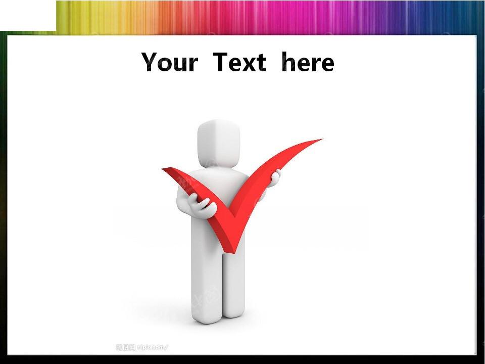 立体对号ppt图标素材免费下载_红动网图片