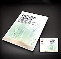 绿色树木淡雅画册封面设计