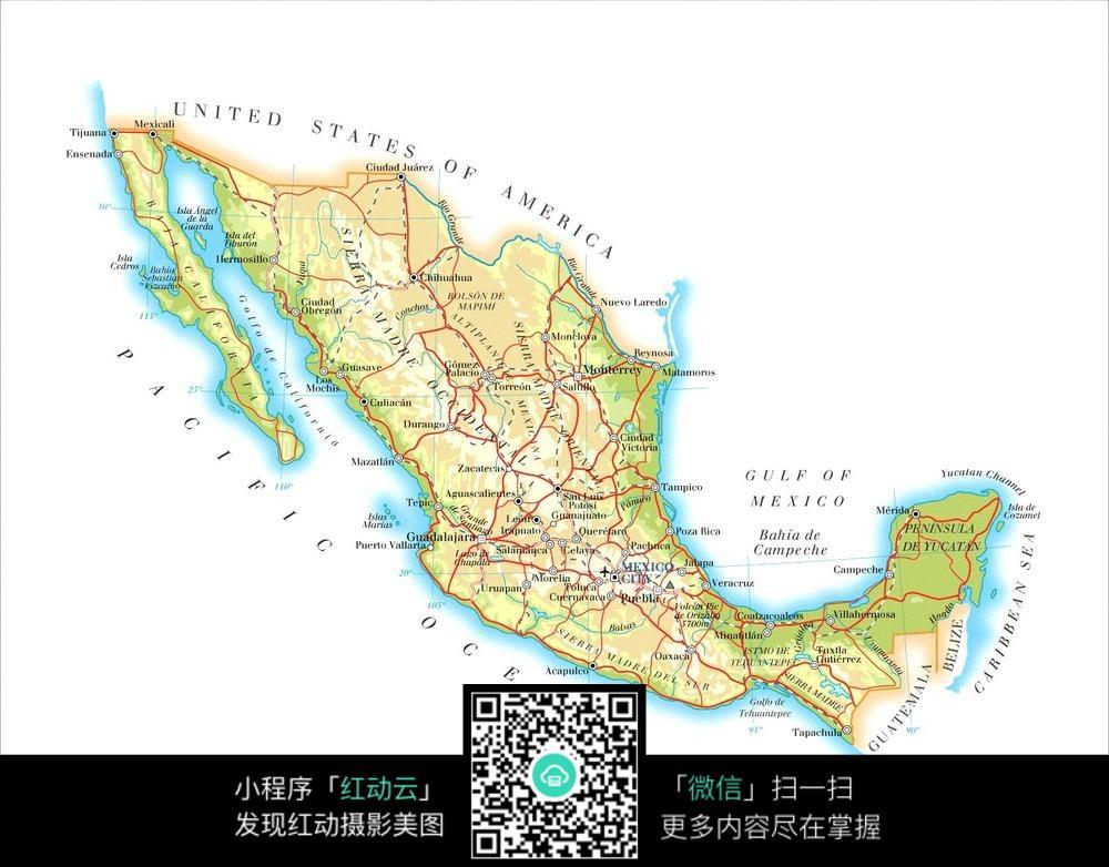 墨西哥地图jpg