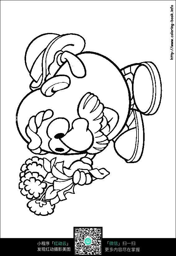 拿着手捧花的鸡蛋老头图片免费下载 编号3736582 红动网
