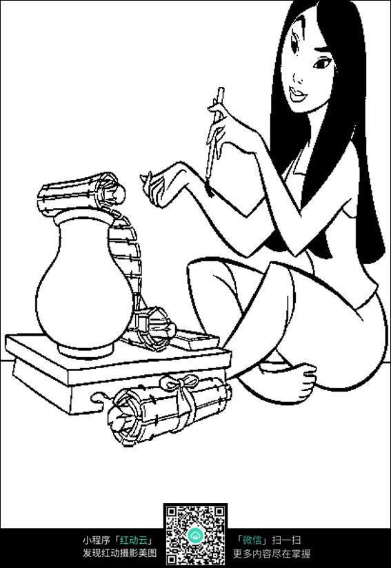 漫画在写手稿的场景女人竹简漫画暖暖图片少女图片