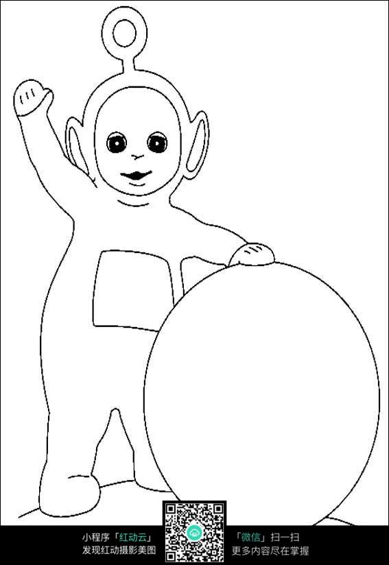 小孩手绘图片简图