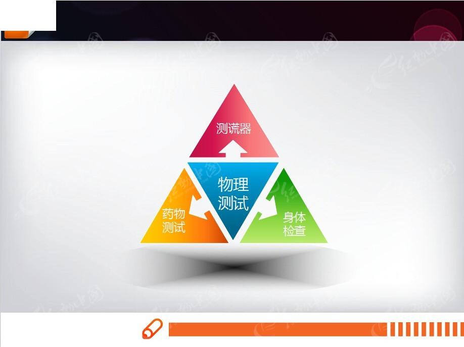 三角形扩散ppt图表模版免费下载_表格图标素材图片