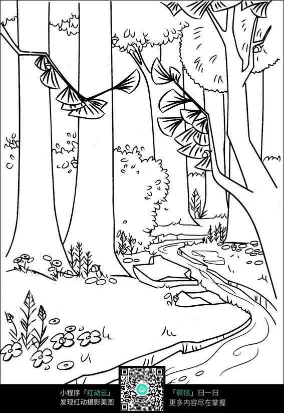 免费素材 图片素材 漫画插画 人物卡通 森林里的溪流  请您分享: 红动