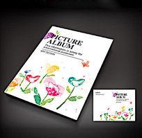 手绘花创意画册封面设计