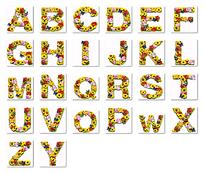 鲜花合成的26个英文字母