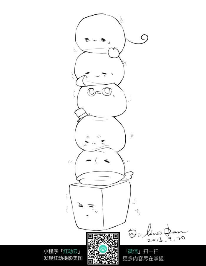 小动物卡通手绘线稿