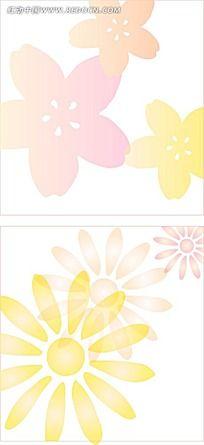 小花手绘背景画