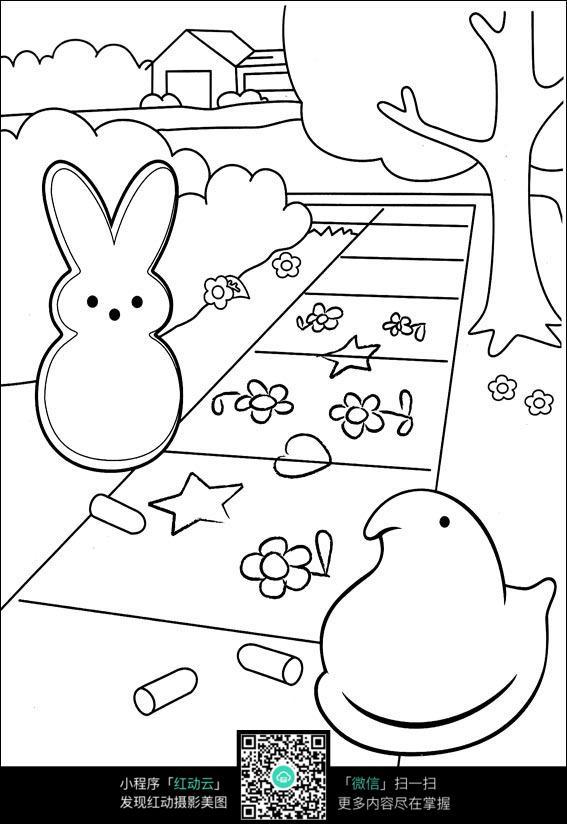 手绘卡通宝塔图片