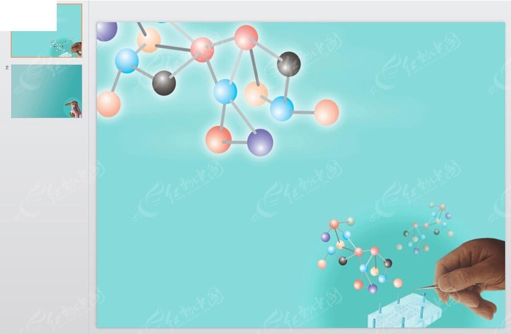 医学分子式ppt模板免费下载_科技科研素材图片