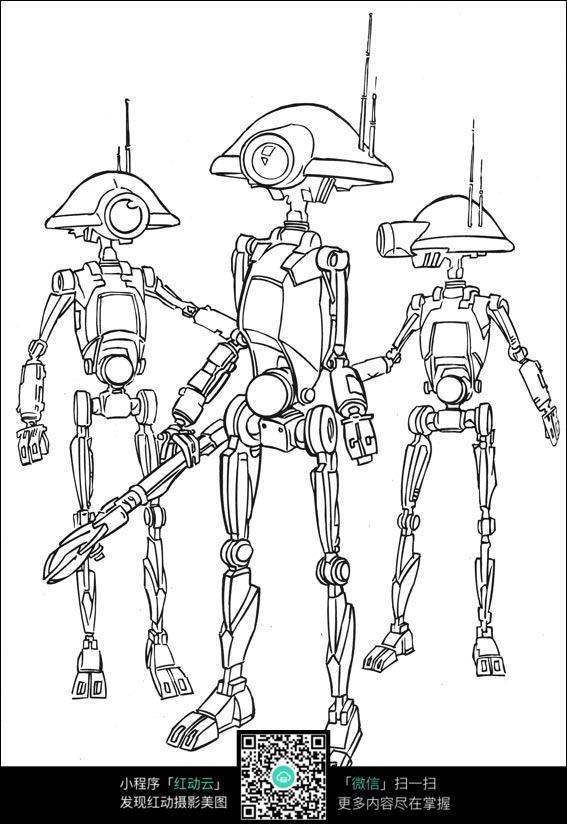 免费素材 图片素材 漫画插画 人物卡通 站立的机器人  请您分享: 红动