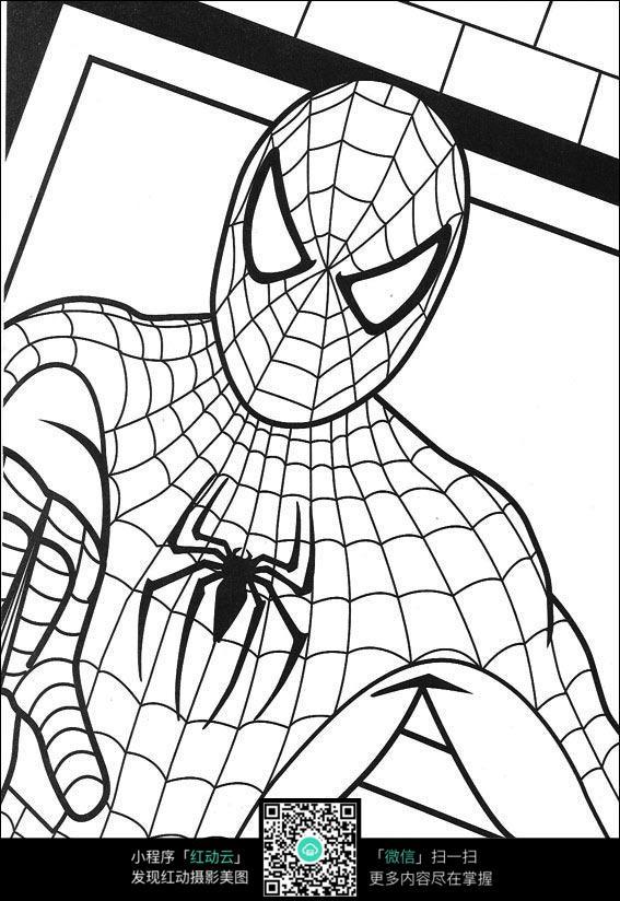 蜘蛛侠人物线描