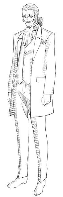 中年男子卡通手绘线稿图片