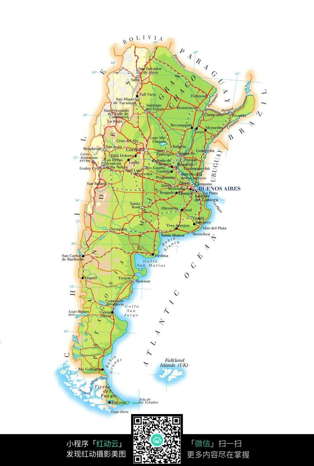 阿根廷地图图片图片