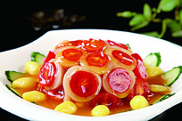 橙香红毛丹菜品照片
