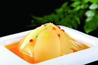 橙汁天麻菜品摆盘