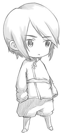 短发男孩卡通手绘线稿图片_人物卡通图片