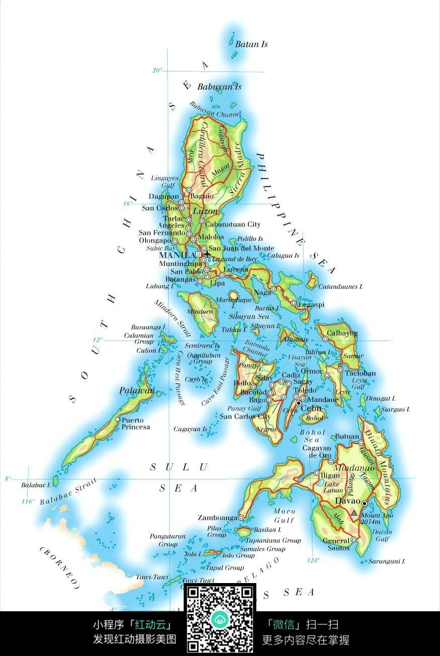 菲律宾群岛地图图片