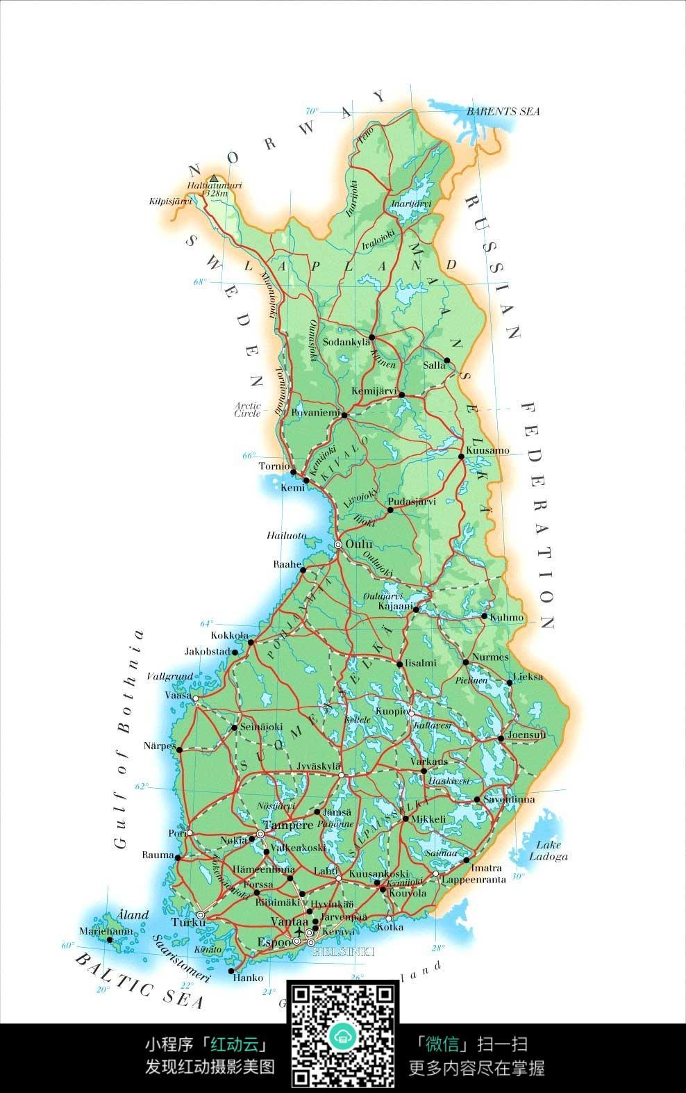 芬兰地图图片图片