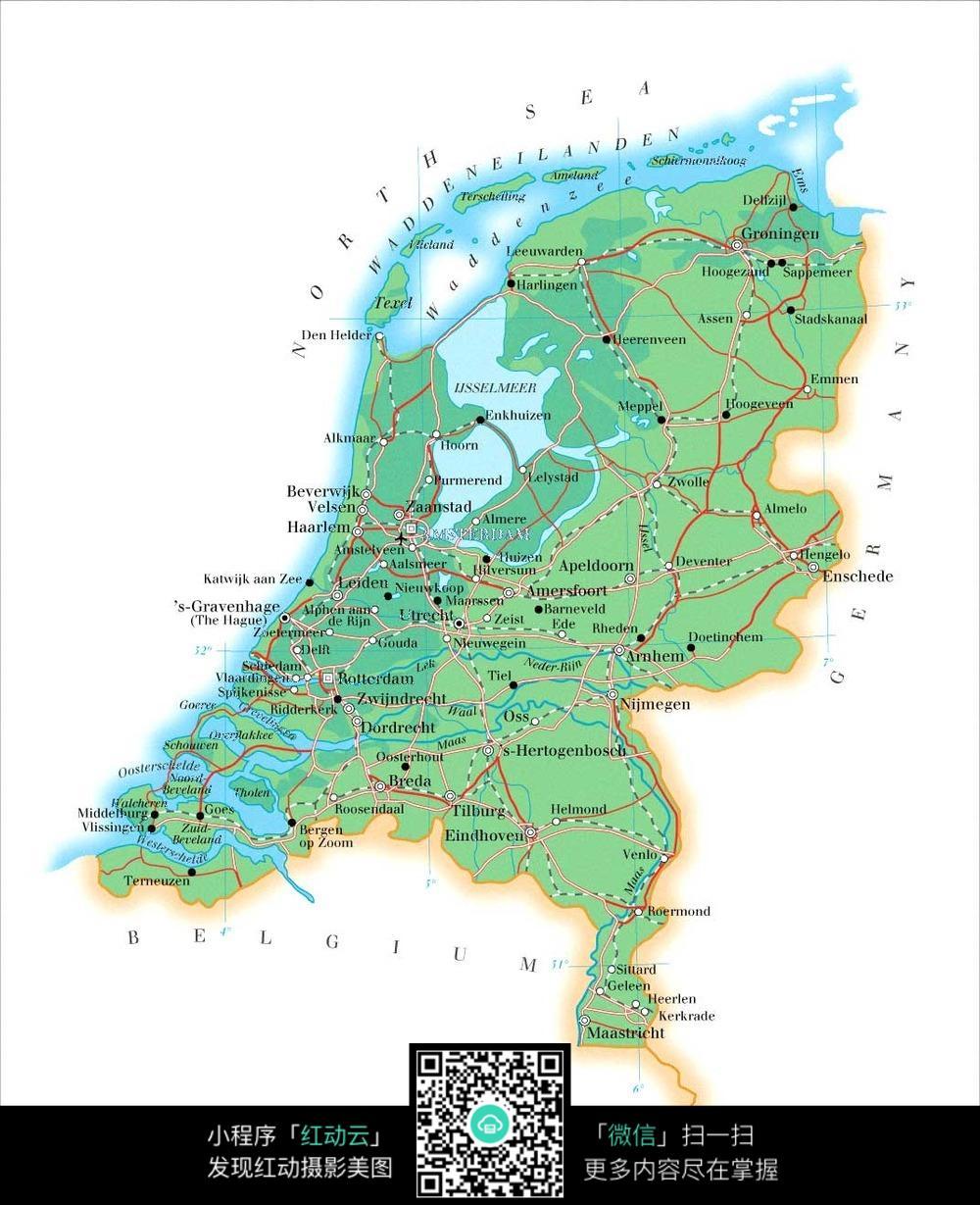 荷兰地图图片图片
