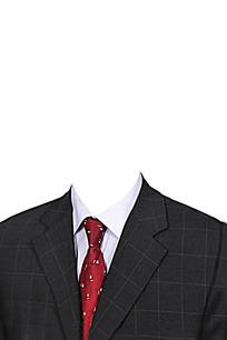 红领带西装模板