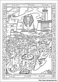 卡通城堡手绘线稿图片