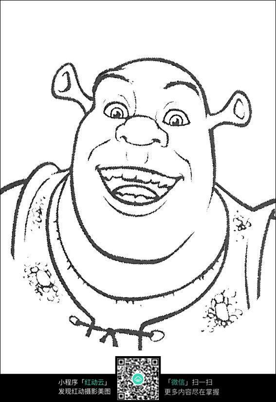卡通怪叔叔手绘线描图片