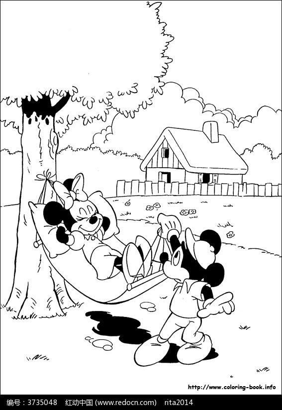 卡通狗和老鼠手绘线稿图片图片-漫画插画|绘画图片