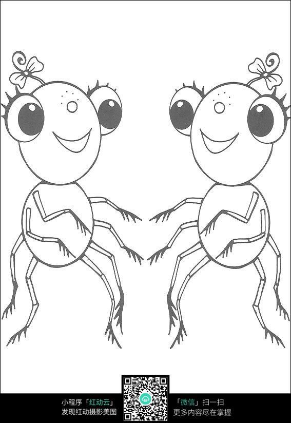 卡通蜘蛛手绘