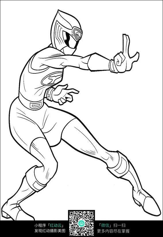 卡通蜘蛛侠手绘线稿图片