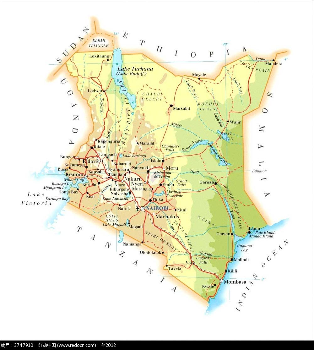 肯尼亚地图图片_其他图片