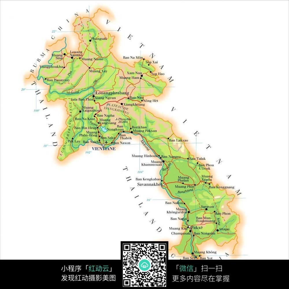 老挝地图图片图片