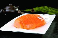 美味的橙香木瓜菜品照片