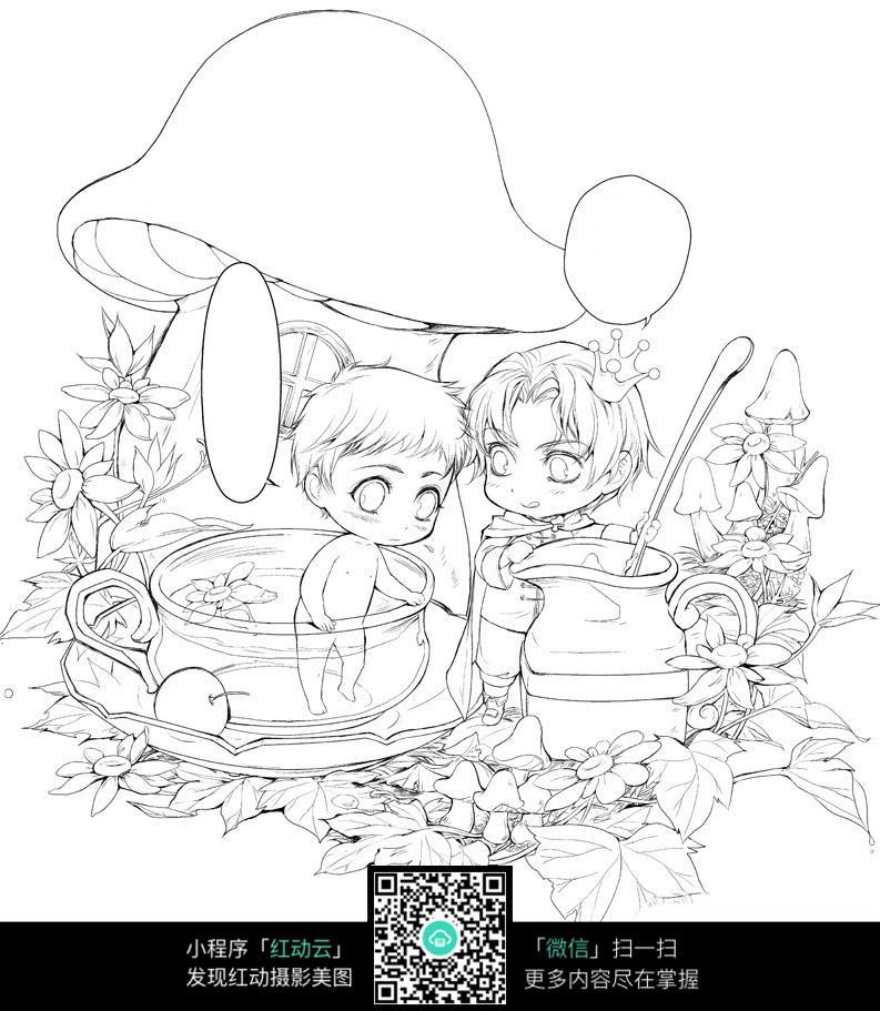 王鹤棣手绘漫画图片
