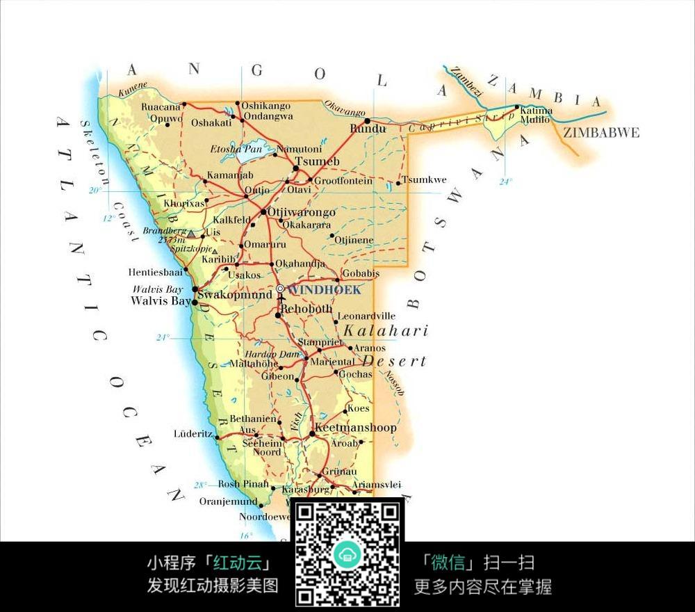 纳米比亚地图图片