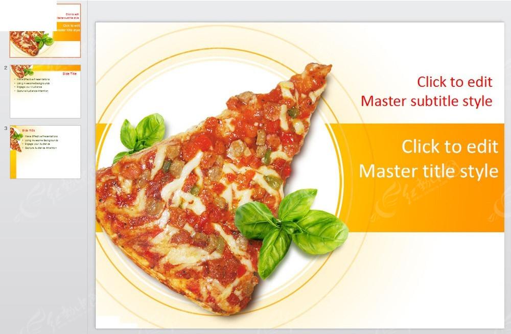 披萨饼西餐美食ppt模板免费下载_其他ppt素材图片