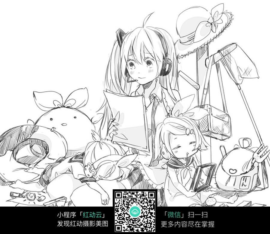 日本漫画场景_人物卡通图片