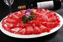 日本神户牛肉摆盘照片
