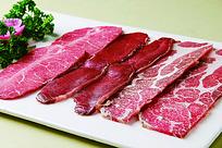 肉类拼盘摆盘照片