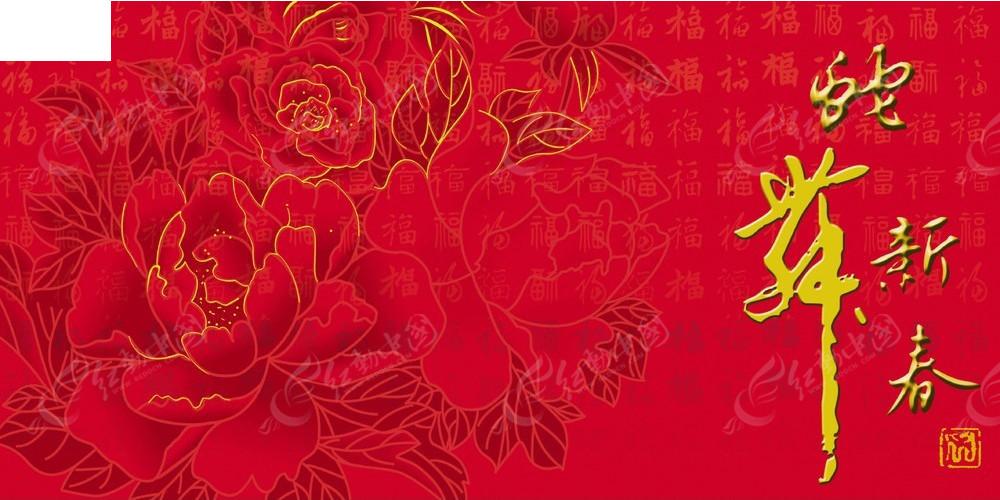 蛇年新春psd海报 手绘鲜花