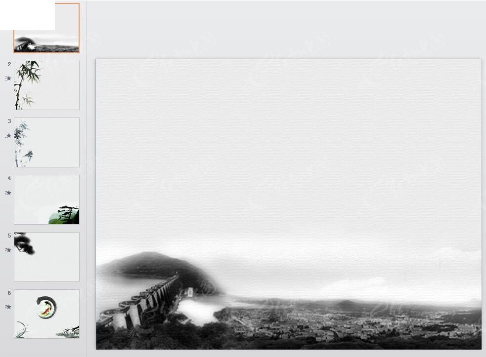 水墨风格ppt模板图片