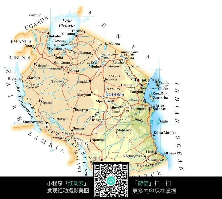 坦桑尼亚地图图片图片