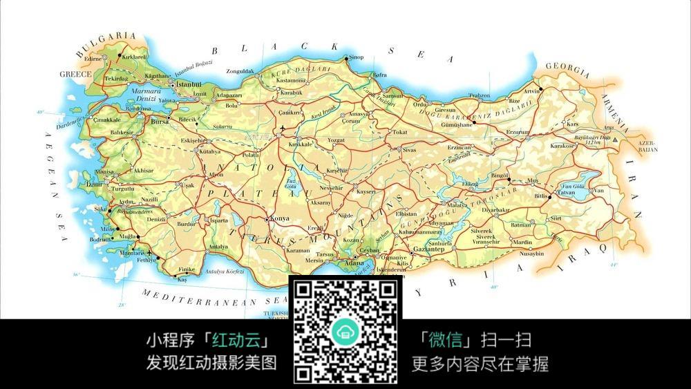 土耳其地图图片