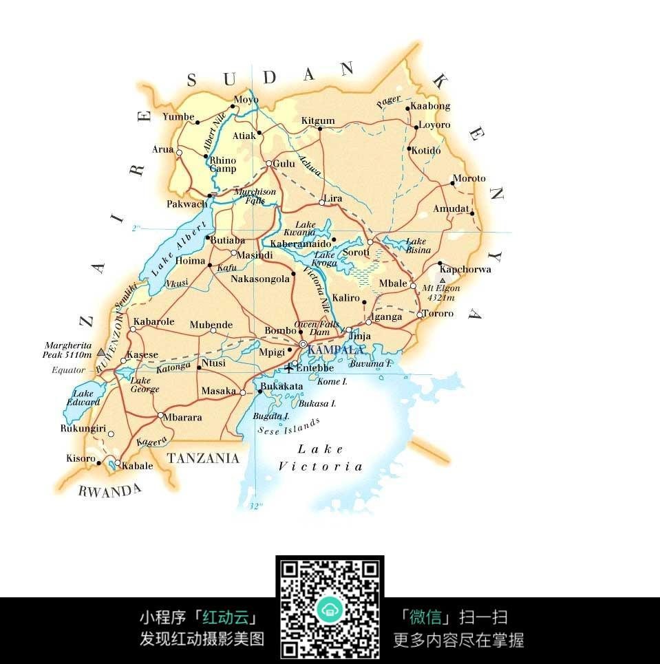 乌干达地图图片图片