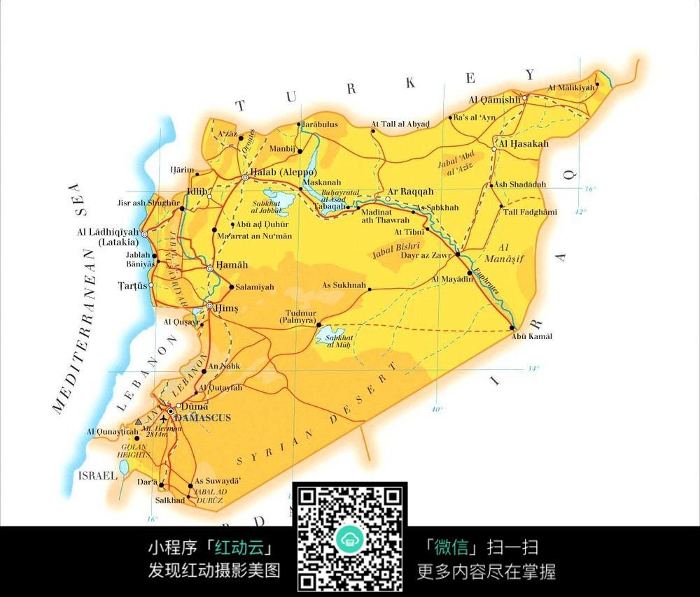叙利亚地图图片