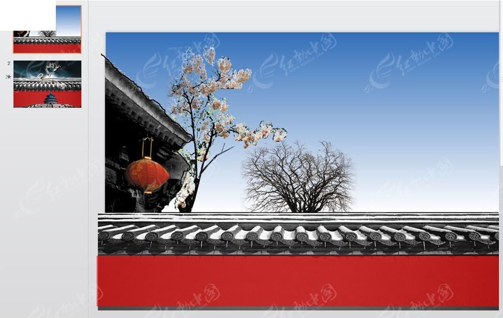 中国古建筑ppt模板图片图片