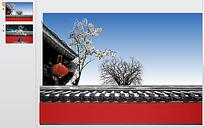 中国古建筑ppt模板图片