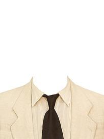 白色黑领带男士证件照