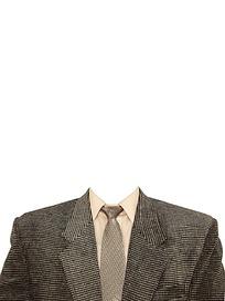 穿西服的男士证件照