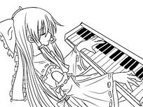 弹钢琴的男孩图片